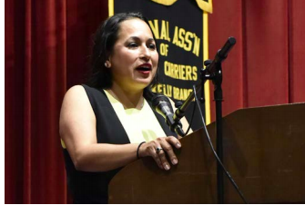 EXECUTIVE DIRECTOR AND CEO AT CASA SAN JOSÉ AND 2018 NEW PERSON OF THE YEAR AWARDEE MONICA RUIZ DELIVERS AN ADDRESS