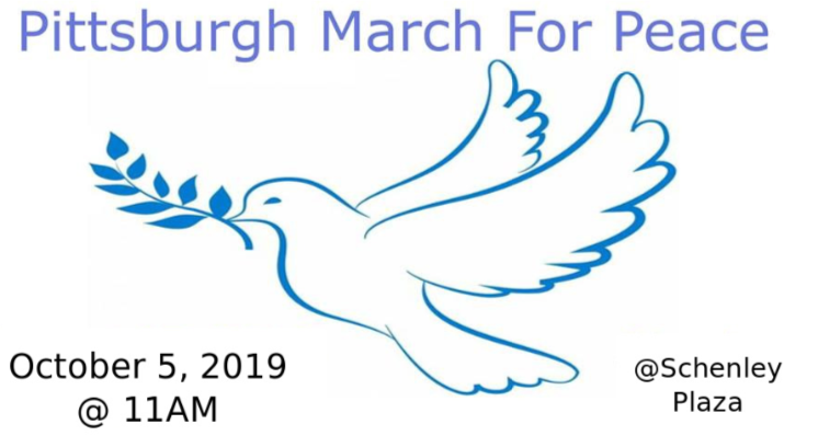 MARCH FOR PEACE, SATURDAY. OCT. 5, 2019March For Peace 2019