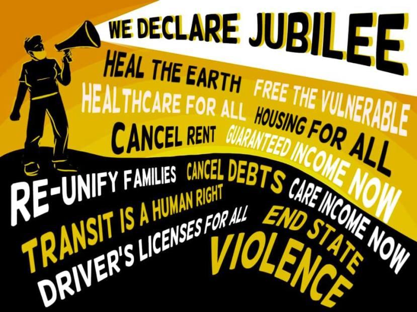 We Declare Jubilee Demands Poster